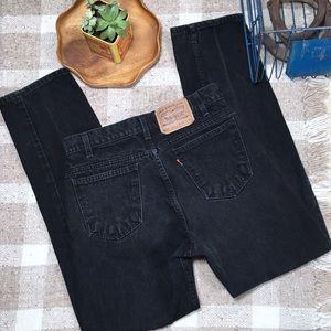 Vintage Levis 505 high rise orange tab wedgie jean